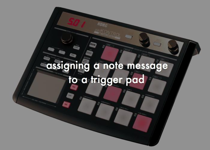 KORG padKONTROLのパッドに音(MIDIノート)を登録(アサイン)してシーンを保存する手順