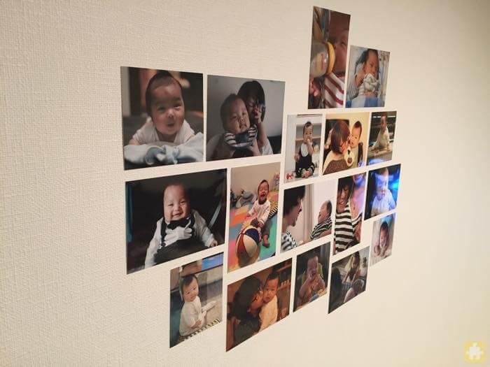 撮った写真を壁にコラージュしてみた!壁に写真をいい感じに飾るのには、センスよりもまずやってみるぞって気持ちが大事!