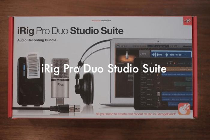 IK Multimediaのオーディオインターフェイスセット「iRig Pro Duo Studio Suite」で職場のレコーディング環境を整えました