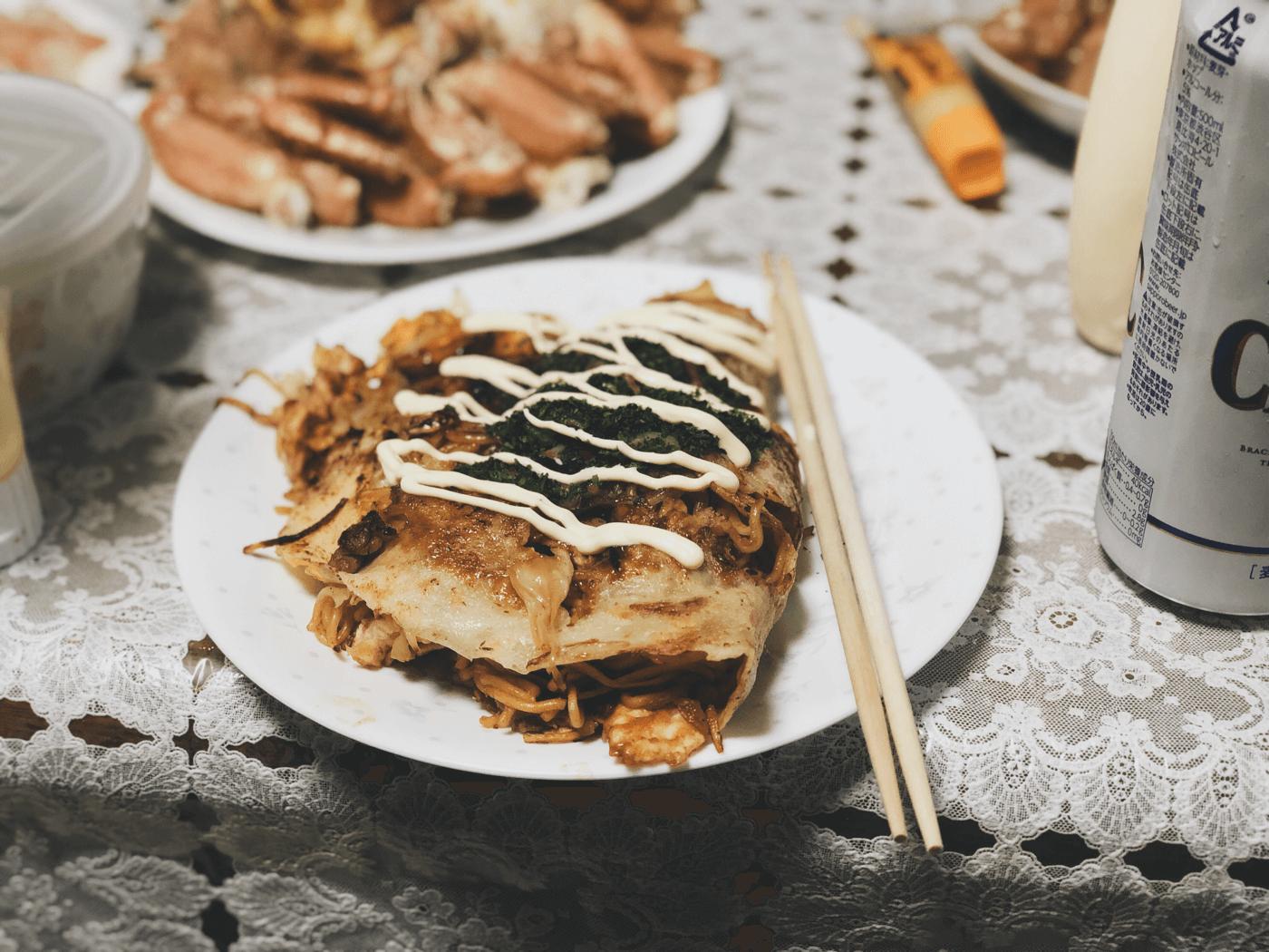 北海道でなぜか広島のお好み焼き食べたよ