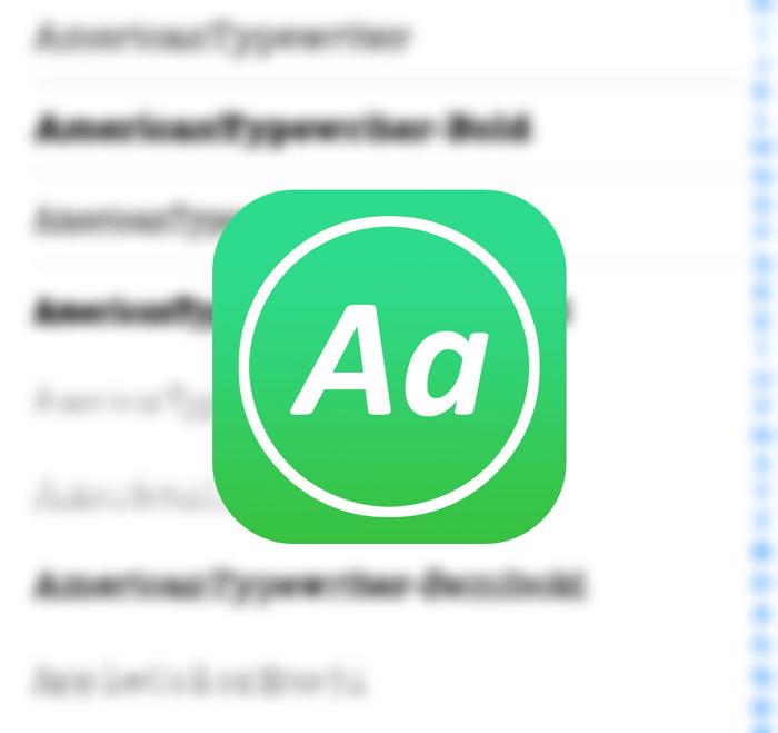 iPhoneにフォントを組み込む「AnyFont」で好きなフォントを好きなだけ