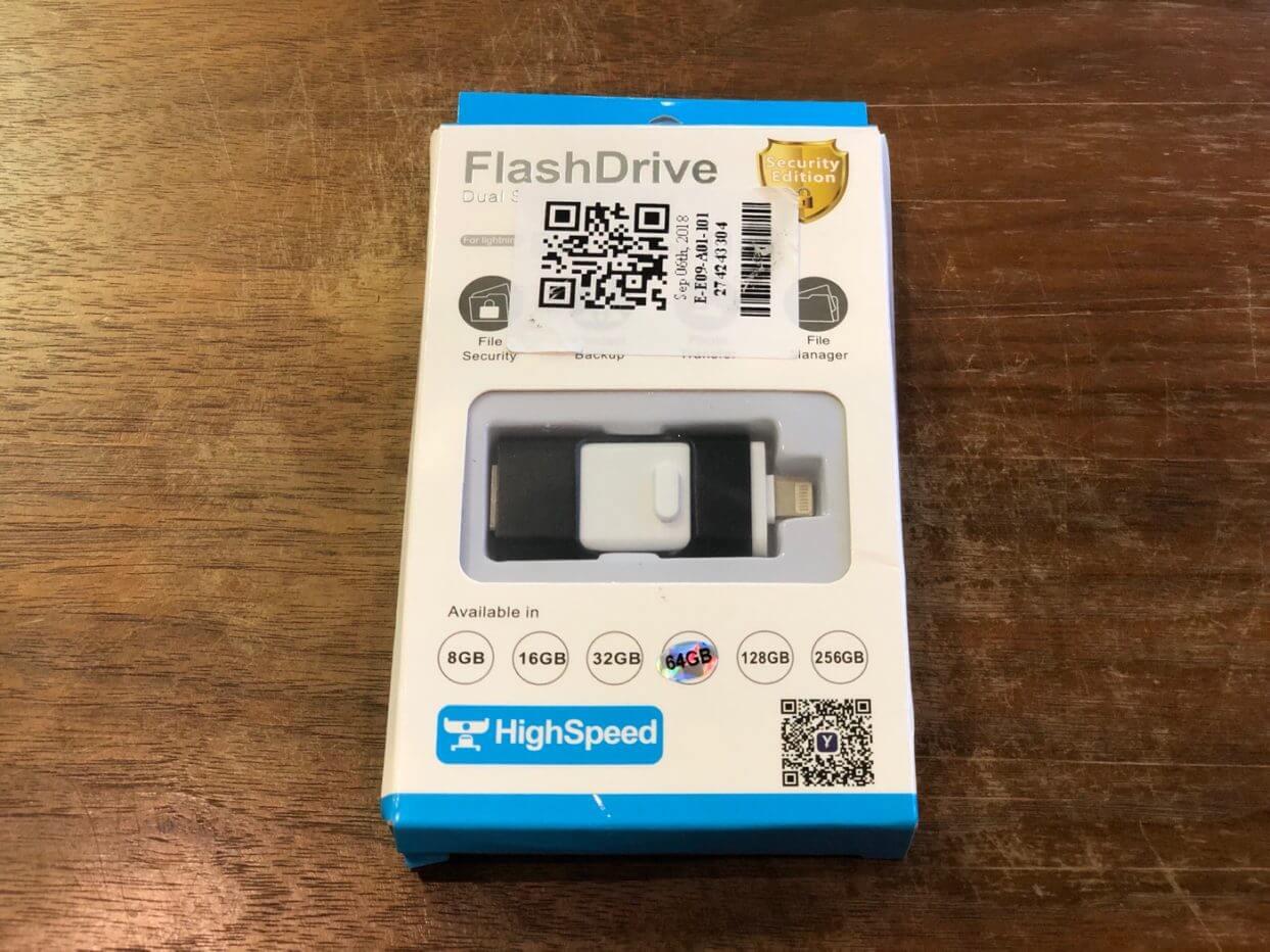 USB、Lightning、microUSBの3つの入力端子がついたフラッシュメモリレビュー【PR】